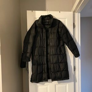 Used Northface Long Quilted Winter Jacket